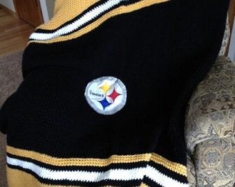 Steelers Blanket - a loom knit pattern
