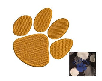 Paw Print Embroidery Design - Tiger print 5 design sizes Instant Download