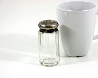 Antique Glass Jar with Silver Lid - England, 1911