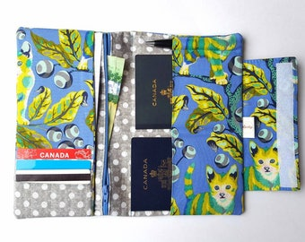 Family Passport Holder, Passport Wallet, Passport Cover, Multiple Passport Holder, Travel Organizer, Cat Passport, Blue Passport