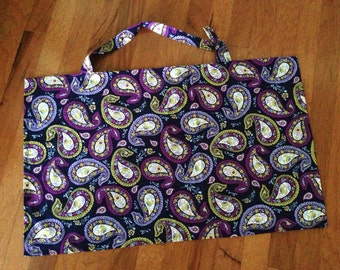 Purple Paisley Nursing Cover