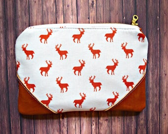 Ready to ship deer pouch, deer wristlet, deer bag, deer pouch, deers, wristlet , deer leather pouch, fall bag, pouch, animal pouch
