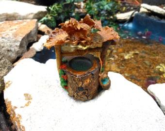 Fairy Garden/terrarium Well-OOAK-Hazelnut Well