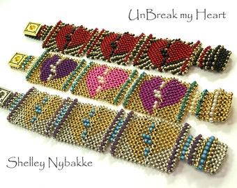 UnBreak my Heart Bracelet Tutorial - pdf Instructions ONLY