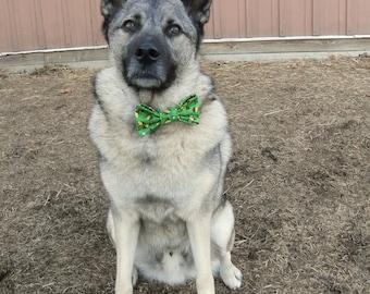 Green Woodstock Beagle Scout Bow Tie