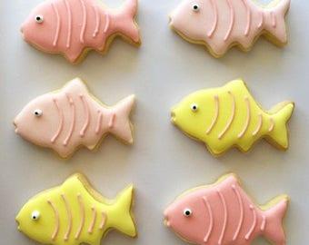 Royal Iced Vanilla Cookie - Fish