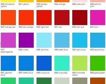 """5 fogli di vinile adesivo trasparente Oracal 8300 - 9,8 """"x 7.8"""" (25 x 20 cm.) - 10% sconto. Pick da 32 colori, adesivi in vinile, vinile Craft"""