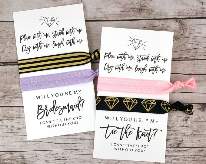 Bridesmaid Proposal Hair Ties, Plan With Me Stand With Me (FPS0HT7)