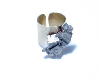 Geometric ring, Sterling silver ring. Modern Jewelry. Contemporary jewelry. adjustable. fine jewelry, OOAK.