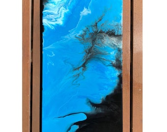 Blue/black abstract painting
