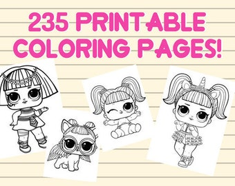 LOL SURPRISE COLORING pages lol dolls party, lol surprise dolls, lol surprise party, lol surprise theme, instant download, printables