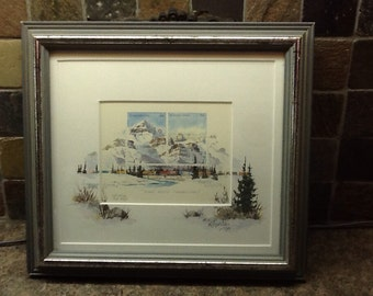 """Marilyn Kinsella """"east west connection"""" Artist Proof Canmore Alberta"""
