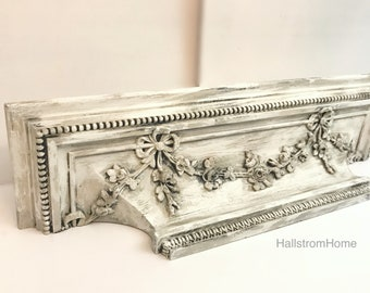Ornate Mantle Wall Shelf French Country Decor