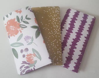 Side pocket Travelers Notebook Folders in Purple