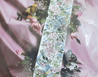Roses and Birds Bell Pull Counted Cross Stitch Kit 6 x 34 Something Special Candamar Designs Destash Cross Stitch Bell Pull Kit Vintage 1991