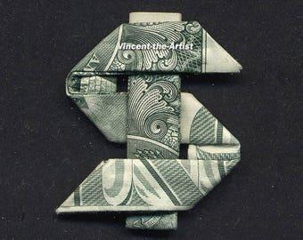 DOLLAR SIGN Money Origami Dollar Bill Cash Sculptors Bank Note Handmade Dinero