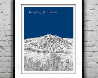 Bromley Mountain Vermont Skyline Poster Art Print VT Item T1127