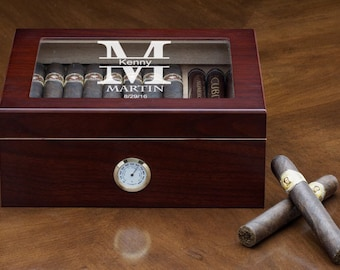 Engraved Humidor- Humidor- Cigar Humidor- Personalized Cigar Humidor- Personalized Humidor- Custom Humidor- Cheap Humidors- Wood Humidor