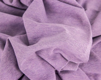 STOFFE FABRIC JERSEY lilac meliert melange