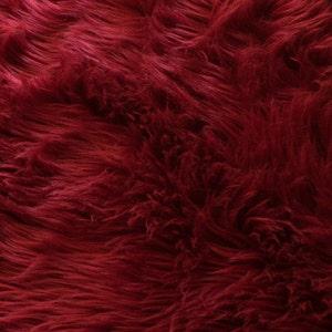 Luxury Fur By the Yard- Dark Red 1/2 Yard increments
