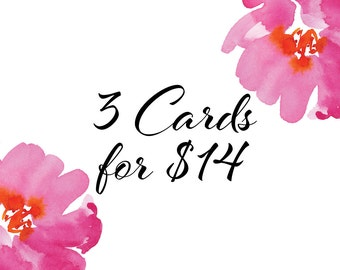 Buy Any 3 Cards Pack - A6 Greeting Cards
