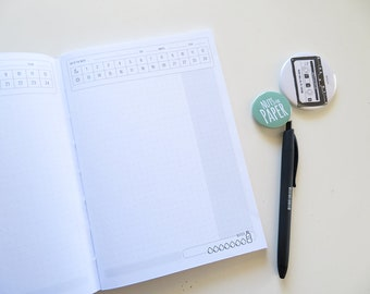 Undated Daily Planner | 94 Days Planner - 3 Months - A5 Size Notebook | Kites Pattern Cover