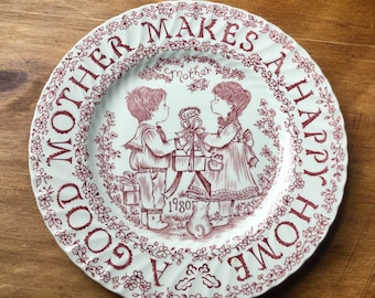 """Royal Crownford Staffordshire """"Mothers Day 1980"""" Plate"""