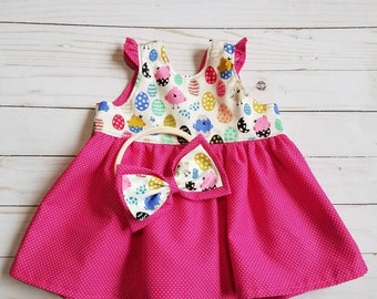 Farm Dress, chicken dress, farm baby dress