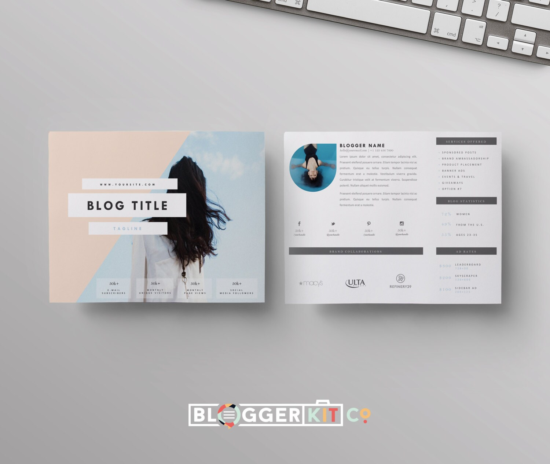 Two-Page Media Kit Template-Horizontal Press Kit Template