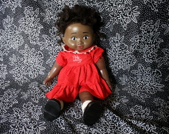 Vintage Baby Whitney African American Baby Doll. Ethnic Baby Whitney Cute Black Lomel Entertainment 80s Ethnic Little Girl Doll