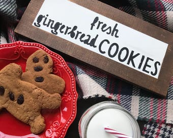 Faux Framed Fresh Gingerbread Cookies Sign
