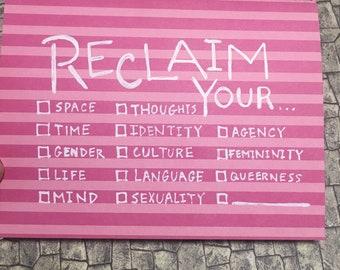 Reclaim... greeting card