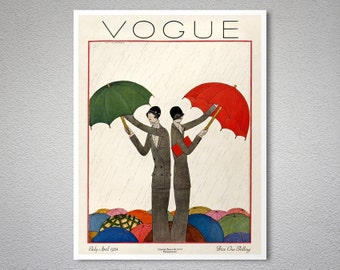 Vogue Cover April 1924 Fashion Poster - Poster Print, Sticker or Canvas Print / Gift Idea