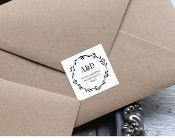 Wedding Address Stickers, Favor Tag, Return Address Labels, DIY, Instant Download, 100% Editable Template, Wreath Rustic Botanical #NC-101AL