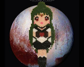 Sailor Pluto Brick Stitch Pattern - Setsuna Meiou Beading Pattern - Sailor Moon Miyuki Delica Pattern Beaded Sailor Soldier Senshi Pattern