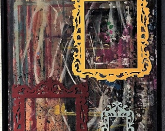 Jackson Pollock-Style Abstract Expression Tribute Painting
