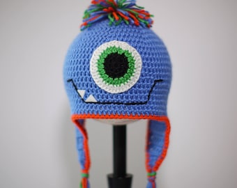 Crochet One Eye Monster Hat