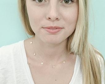 Tiny Gold Dots Necklace