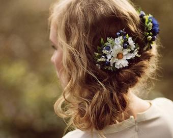 Wedding Hair Accessory Blue