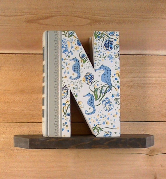 Book letter n 370 ready made letter cut book like this item spiritdancerdesigns Images