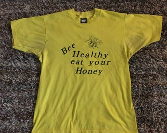 Vintage Bee Healthy Eat Your Honey Shirt