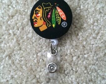 Chicago Blackhawks Badge Reel ID Holder