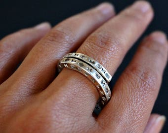 Sinn Sterling Silver Ring Band Unique Ring Boho Jewelry