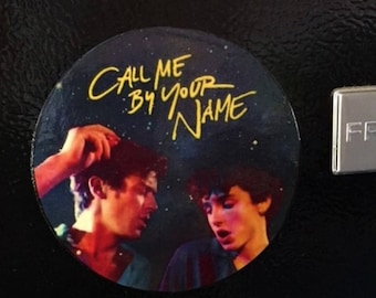 Call Me By Your Name, Call Me Buy Your Name Magnet, Refrigerator Magnet, Gay Couple Art, Gay Male Magnet, Gay Pride, Gay Male Art,