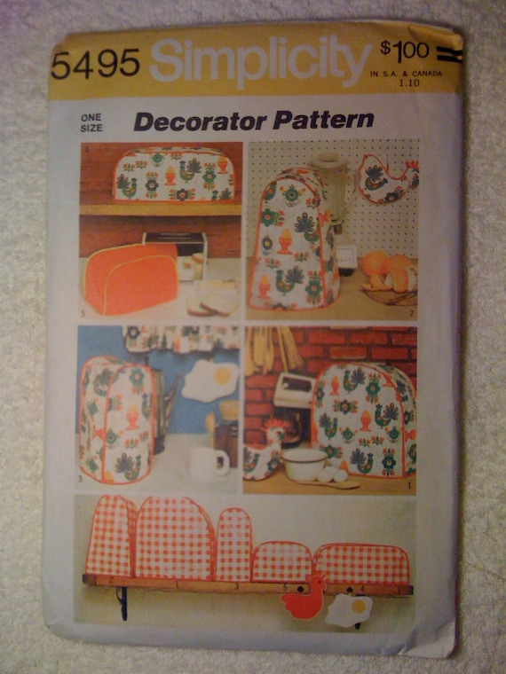 Simplicity 70s Pattern 5495 Kitchen Appliance Covers and Potholders Sale