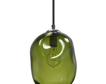 OLIVE River Rock Hand Blown Glass Pendant Light Lighting Glass Pendants and Chandeliers