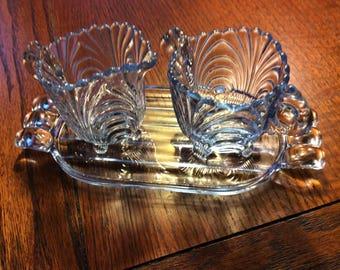 Cambridge blue Caprice elegant glassware