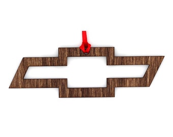 Wooden Chevy Ornament