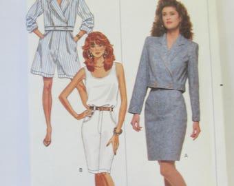 Butterick Petite Jacket skirt shorts and top paper pattern uncut Size ( 12-14-16) #  6335