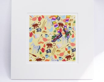 """PIPPI LONGSTOCKING """"unfettered pippi"""" faerie tale feet painting, signed by the artist hallie m. bertling, limited edition print"""